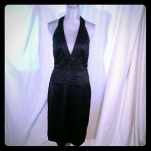 Adrianna Papell black halter evening dress